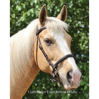 LightRider English Euro Bitless Bridle